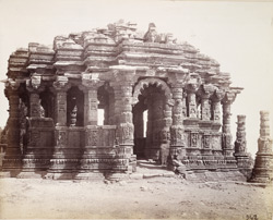 Open mandapa of the Surya Temple from the south-west, Modhera, Gujarat